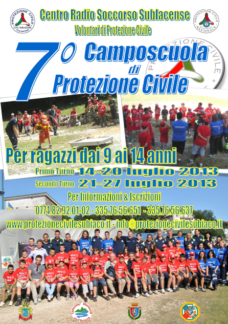 Locandina Campo Scuola 2013