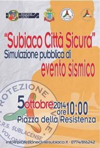 Subiaco Città Sicura - Manifesto Evento